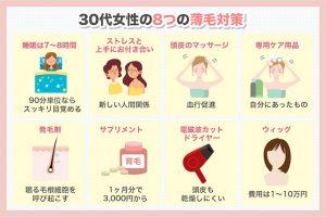 30代女性の8つの薄毛対策