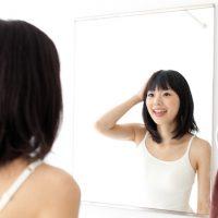 増毛エクステ後の女性