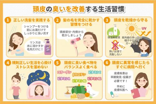 頭皮の臭いを改善する生活習慣