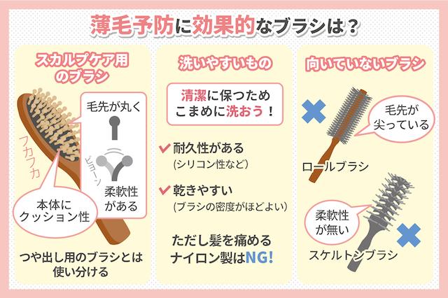 薄毛予防のブラシ選びのポイント